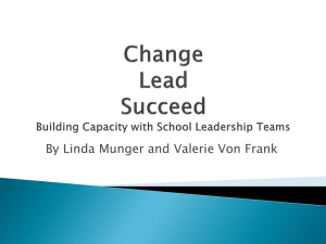 Change Lead Succeed Building Capacity with School Leadership