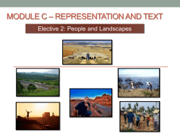 Module C * Representation and Text