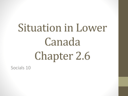 Lower Canada Chapter 2.6