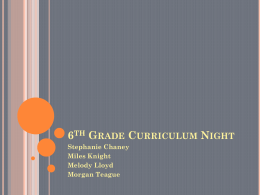 6th Math and Science Curriculum Night