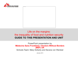 guide to this presentation and unit