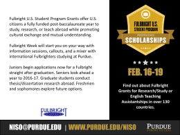 Click here to a PowerPoint flyer for Fulbright Week.