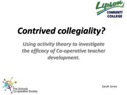Contrived collegiality? - The Co