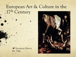 European Art & Culture in the 17th Century