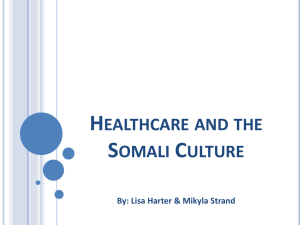 Healthcare and the Somali Culture final-ppt