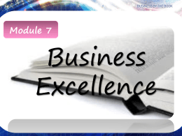Module 7 Business Excellence