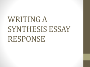 writing a synthesis essay response