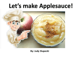 Lets make Applesauce!