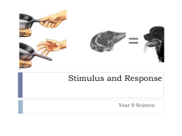 Stimulus and Response - aiss-science-9