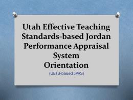 Captivating UETS Based JPAS Training Design