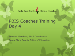 PBIS Coaching Training - Santa Clara County Office of Education