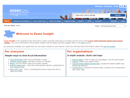 Essex Insight slides Jan 2015