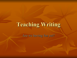 Teaching Writing - southeastone