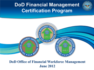 W-R-1445-1545 DoD FM Workforce Certification