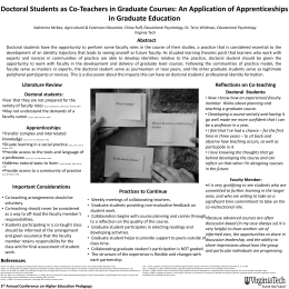 Doctoral Students as Co-Teachers in Graduate Courses