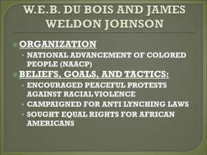 W.E.B. DU BOIS AND JAMES WELDON JOHNSON