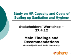 Sector Capacity Study Water and Sanitation, Zambia