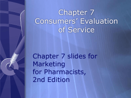 Consumers` Evaluation of Services