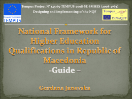 National Framework for Higher Education Qualifications in Republic