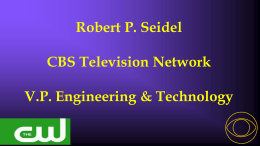 CBS HDTV 97 Technical Program
