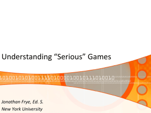 SeriousGames - New York University