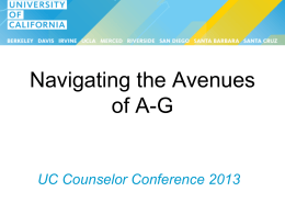 """a-g"". - University of California"