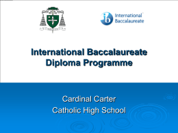 Gr.8 Info IB - Cardinal Carter Catholic High School
