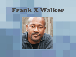 Frank X. Walker - Old Cove Press