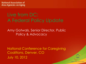 Legislative Update - National Alliance for Caregiving