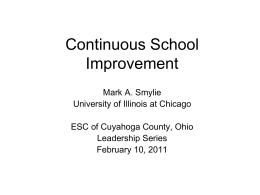 Dr. Mark Smylie - Educational Service Center of Cuyahoga County