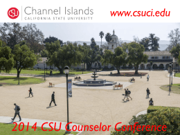 Channel Islands - The California State University