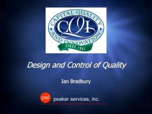 Design and Control of Quality with Ian Bradbury