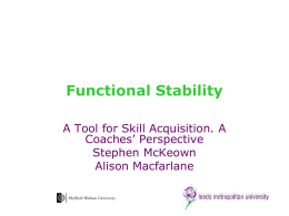 Functional Stability - Leeds Beckett University