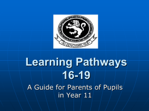 Learning Pathways 16-19