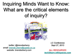 UGDSB – Inquiring Minds Want to Know