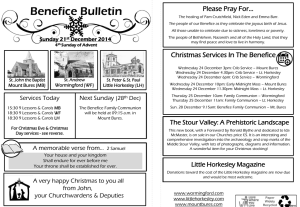 Benefice Bulletin 21 December 2014