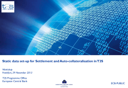 Set-up for settlement, auto-collateralisation and client