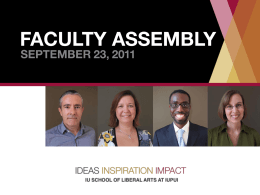 New Faculty - IU School of Liberal Arts @ IUPUI
