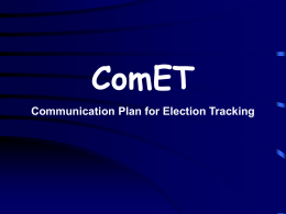 ComET - Election Commission of India