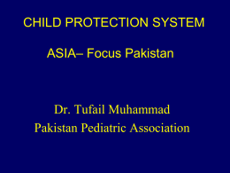 Tufail Muhammad - International Society for the Prevention of Child