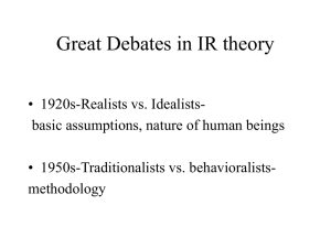 Great Debates in IR theory