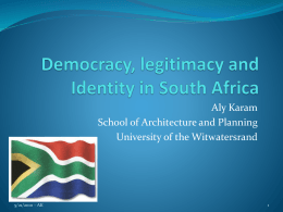 Democracy and legitimacy in South Africa