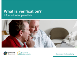 What is Verification (PPT, 3683 kB )
