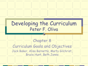 Developing the Curriculum Peter F. Oliva