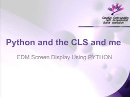 Python and the CLS and me