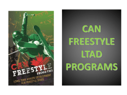 Can Freestyle Programs Overview