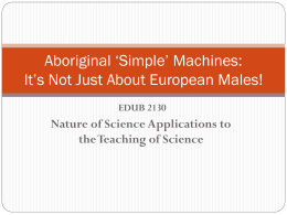 Aboriginal `Simple` Machines