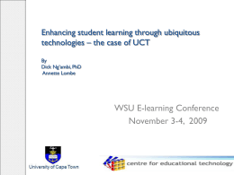 Enhancing Student Learning through Ubiquitos Technologies