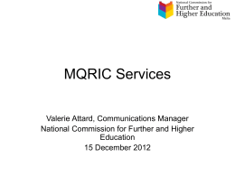 MQRIC Representation Eures December 2012