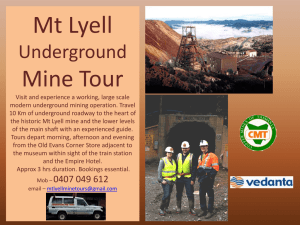 Mt Lyell Underground Mine Tour Visit and experience working, large
